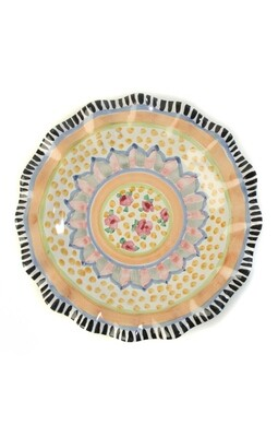 Taylor fluted dinner plate cabbage rose