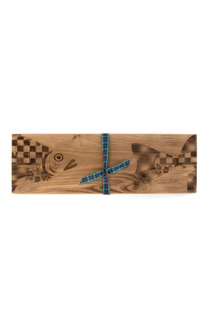 Fish serving board small