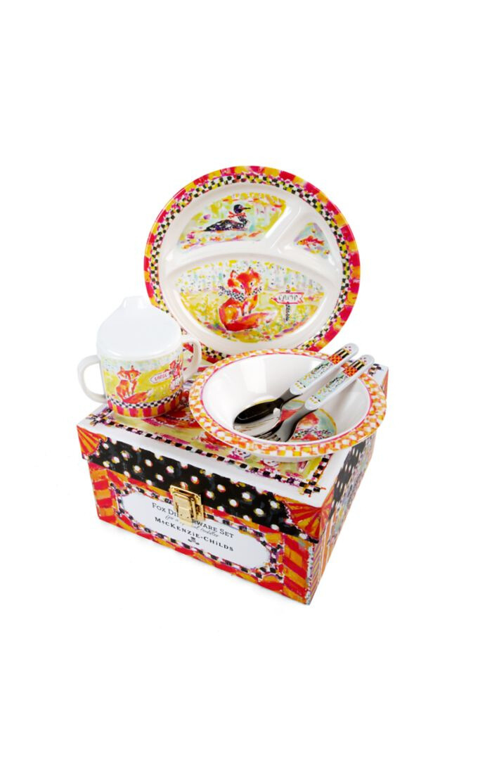 Toddlers dinnerware set fox