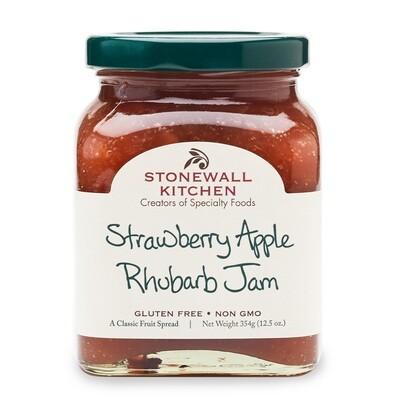 Strawberry apple rhubarb jam