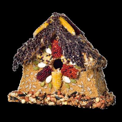 Rustic sparrow house