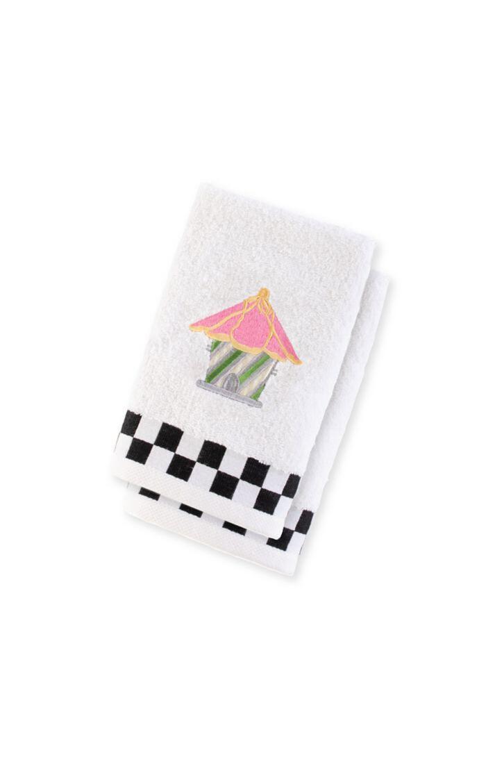 Birdhouse fingertip towel