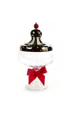 Black tie apothecary jar large