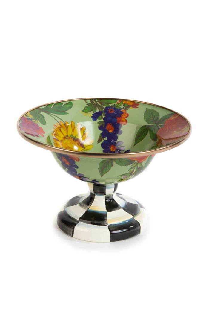 Flower market small compote green