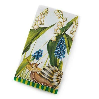 Snail paper napkins guest