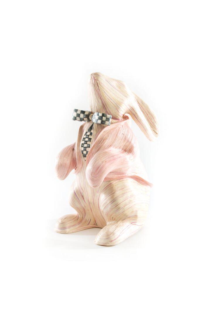 Watercolor bunny pink