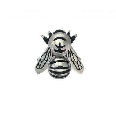 Bumblebee door knocker silver