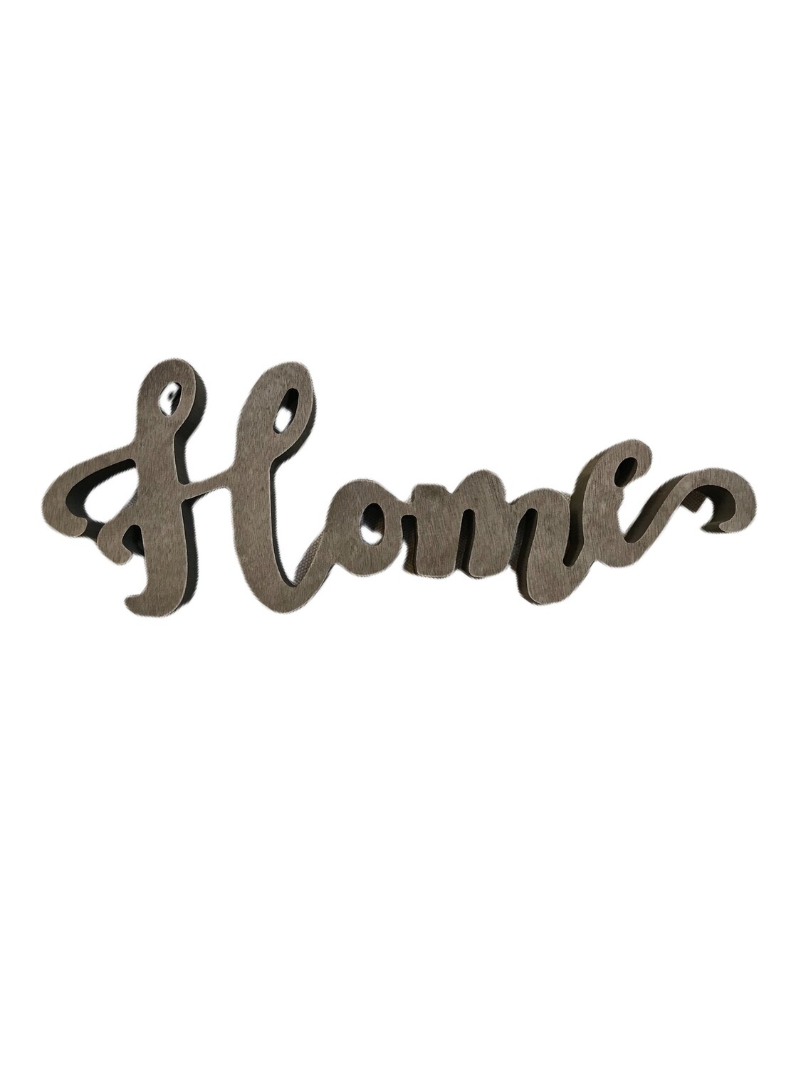 Home cutout tabletop sign