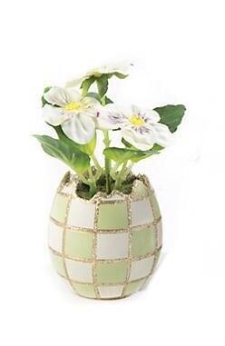 Pastel egg bouquet green