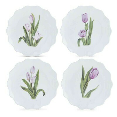 9 inch tulip melamine plates set of 4