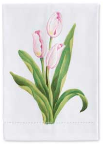 Cotton guest towel tulips closed