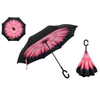 Inverted umbrella Pink flower