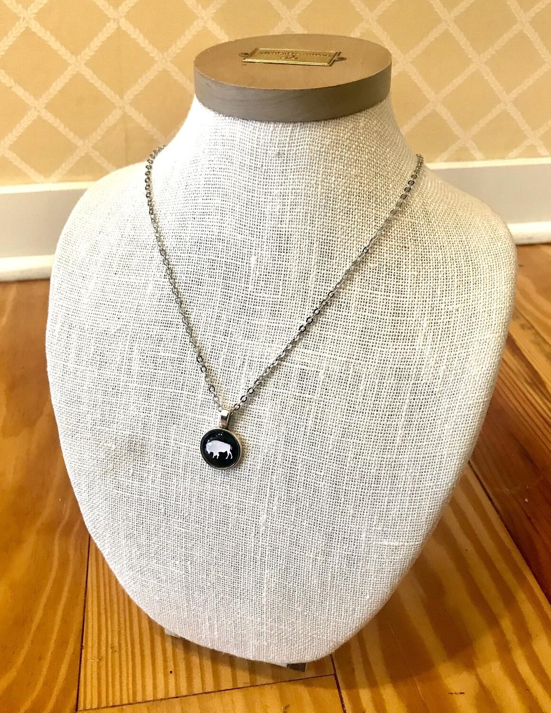 Buffalo necklace black