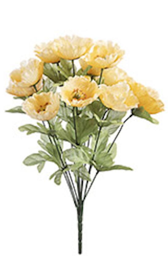 18 inch poppy bush yellow