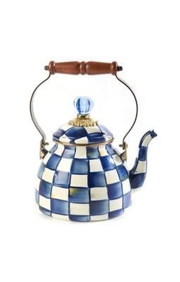 Royal check tea kettle 2 qt