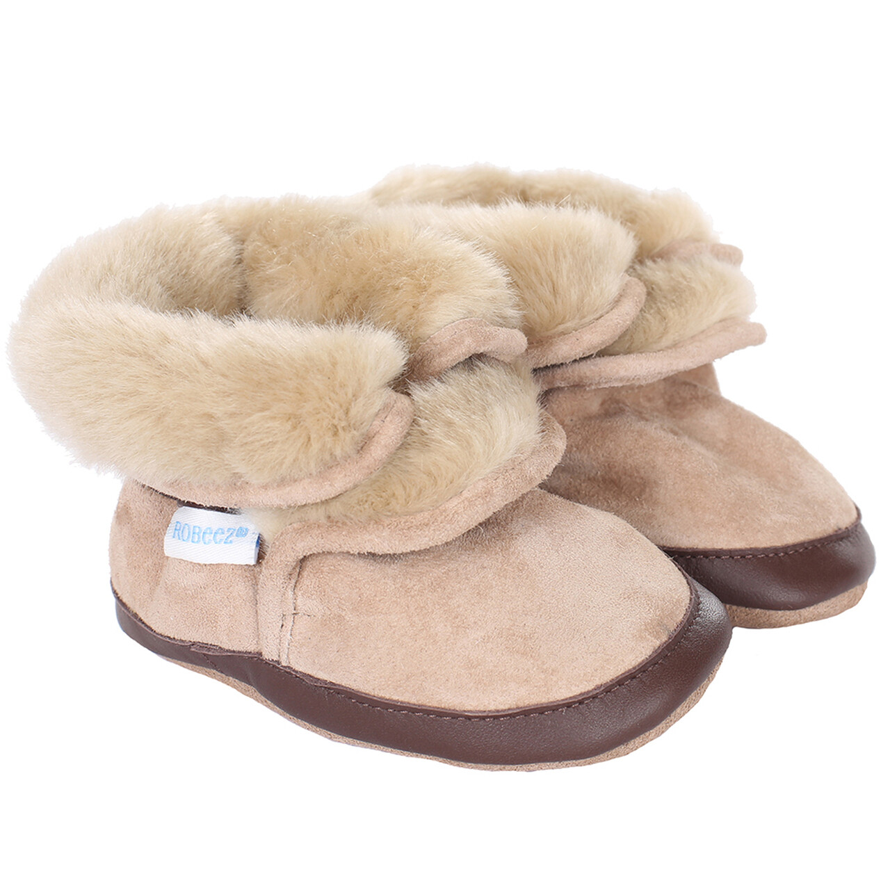 Robeez Cozy ankle bootie taupe 12-18