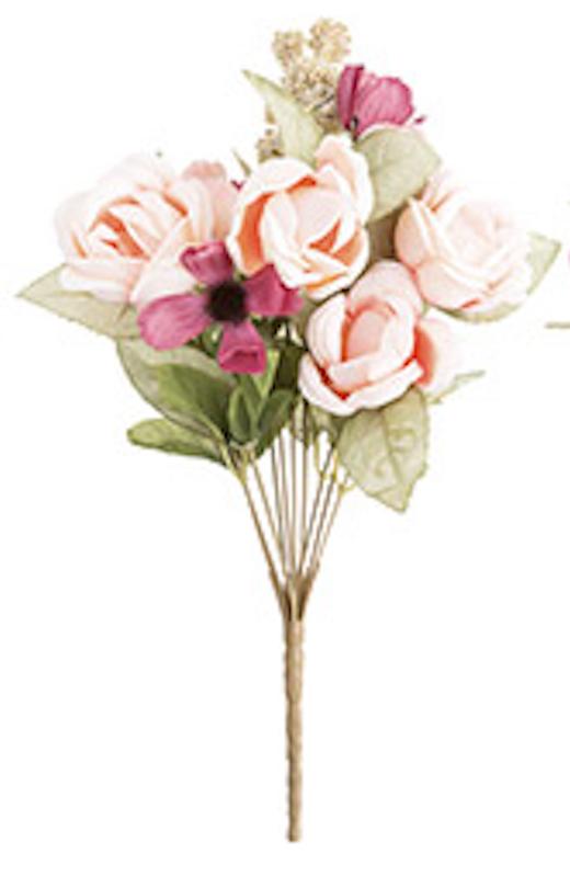 Cabbage rose bush light pink