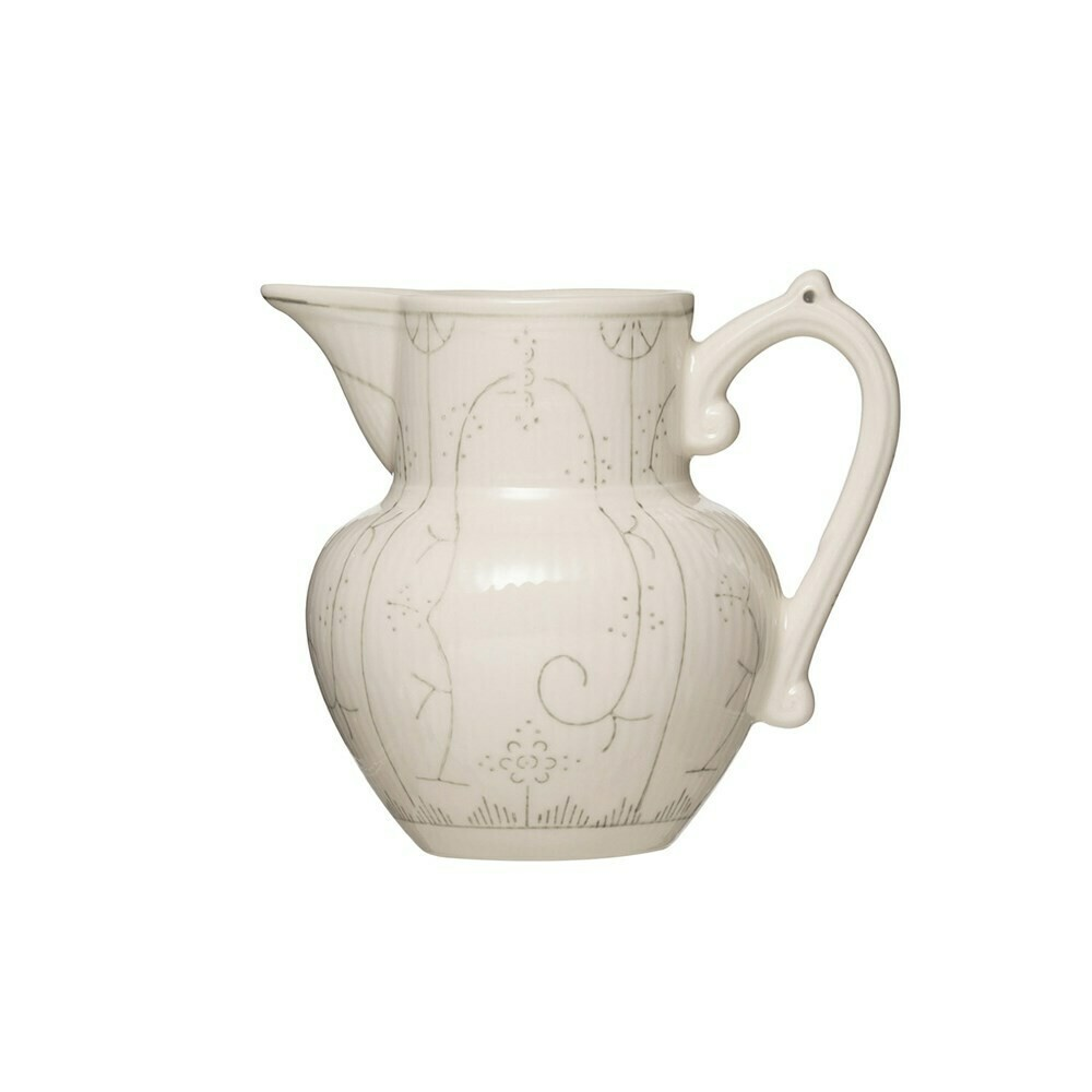 Stoneware pitcher gray 5 inch