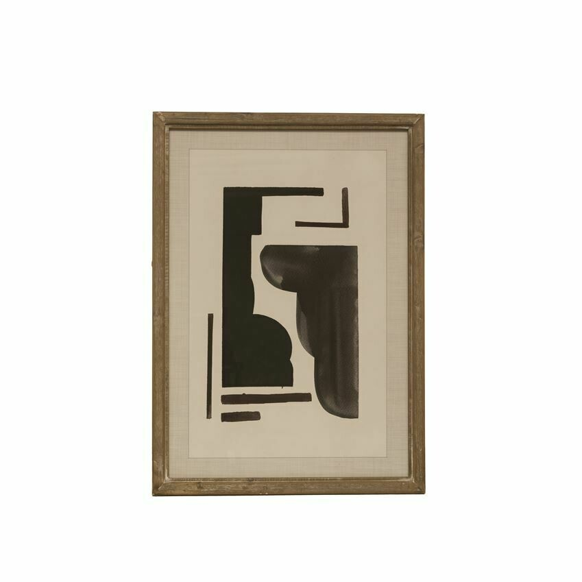 """19""""X27"""" FRAMED ABSTRACT"""