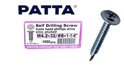 PATTA Պտուտակ գիպսակարտոնի պրոֆիլի սվեռլո M4.2-18*