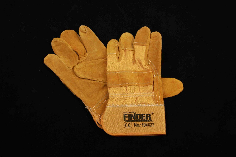 FINDER Բանվորական ձեռնոց զոդման (դեղին,194627)