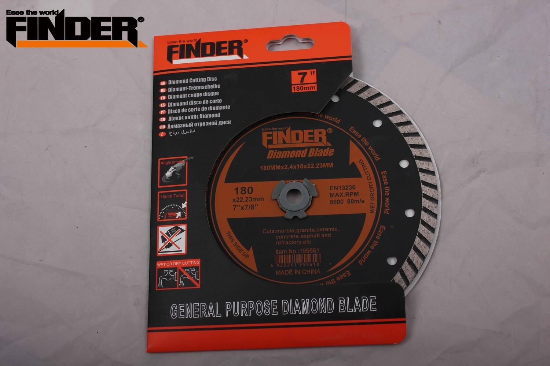 FINDER Սկավառակ կտրող 180mm turbo 195561