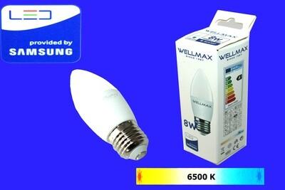 Էլ.լամպ LED Wellmax 8W neutral white (C37 E27 6500