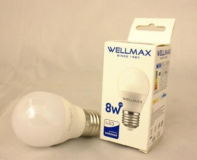 Էլ.լամպ LED Wellmax  08W (G45 6500K)