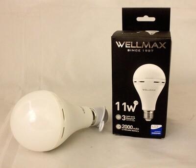 Էլ.լամպ LED Wellmax 11W daylight մարտկոցով (A80 E2