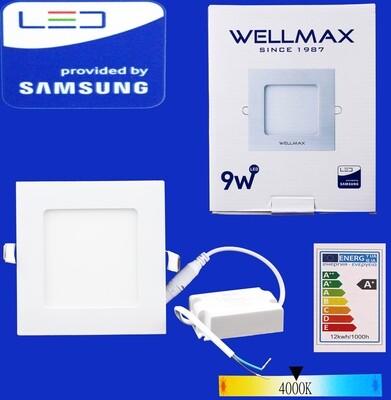 Էլ.պլաֆոն LED Wellmax քառակուսի 9W 4000K