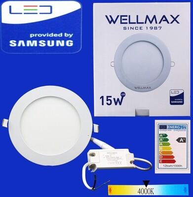 Էլ.պլաֆոն LED Wellmax կլոր 15W 4000K