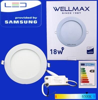 Էլ.պլաֆոն LED Wellmax կլոր 18W 6500K
