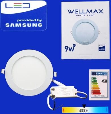 Էլ.պլաֆոն LED Wellmax կլոր 9W 4000K