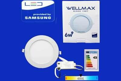 Էլ.պլաֆոն LED Wellmax կլոր 6W 4000K