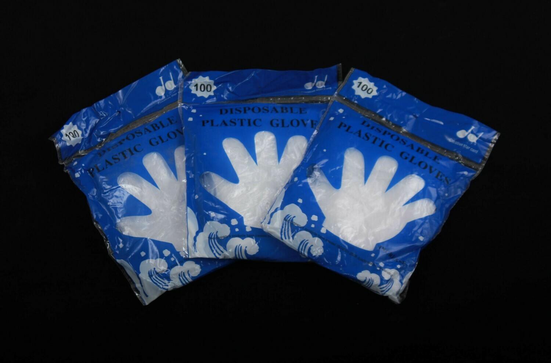 Ձեռնոց միանգամյա օգտ.(Թափանցիկ,100 հատ)