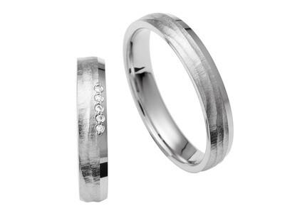EHERINGSET Palladium Weissgold Ringe 585/000