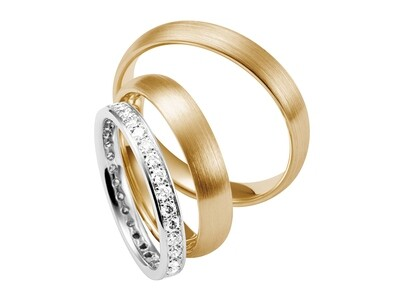 EHERINGSET  Weißgold MITTELGOLD ROSEGOLD RING 585 / 000 GOLDSCHMIEDE JUWELIER EDER FELDBACH