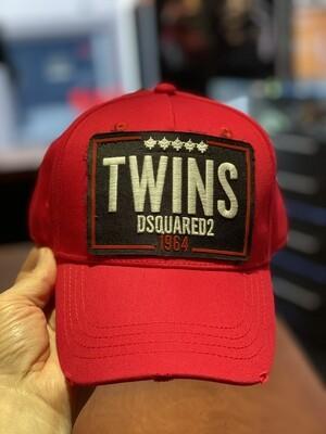 DSQUARED2 Cap - TWINS red/black
