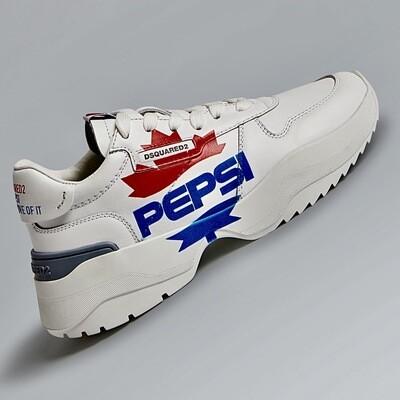 D2- Sneakers 2839 PEPSI, white