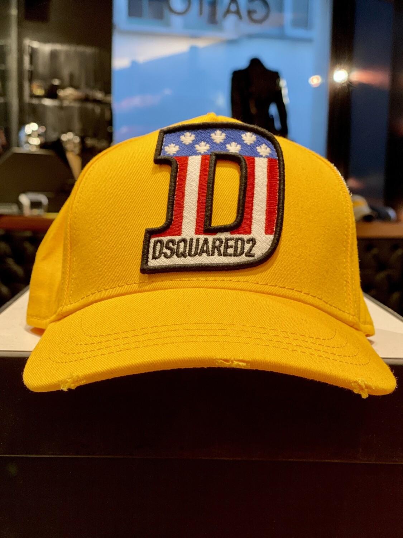 DSQUARED2 - Cap AMERICAN D, yellow