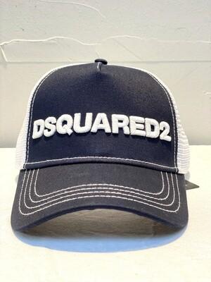 DSQUARED2 - Cap D2 M 190, navy/white