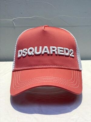 DSQUARED2 - Cap D2 M124, rosa/white