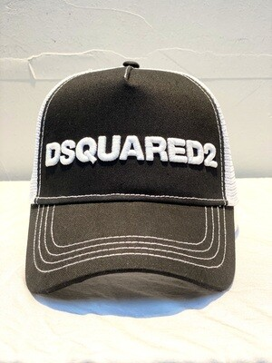 DSQUARED2 - Cap D2 M63 black/white