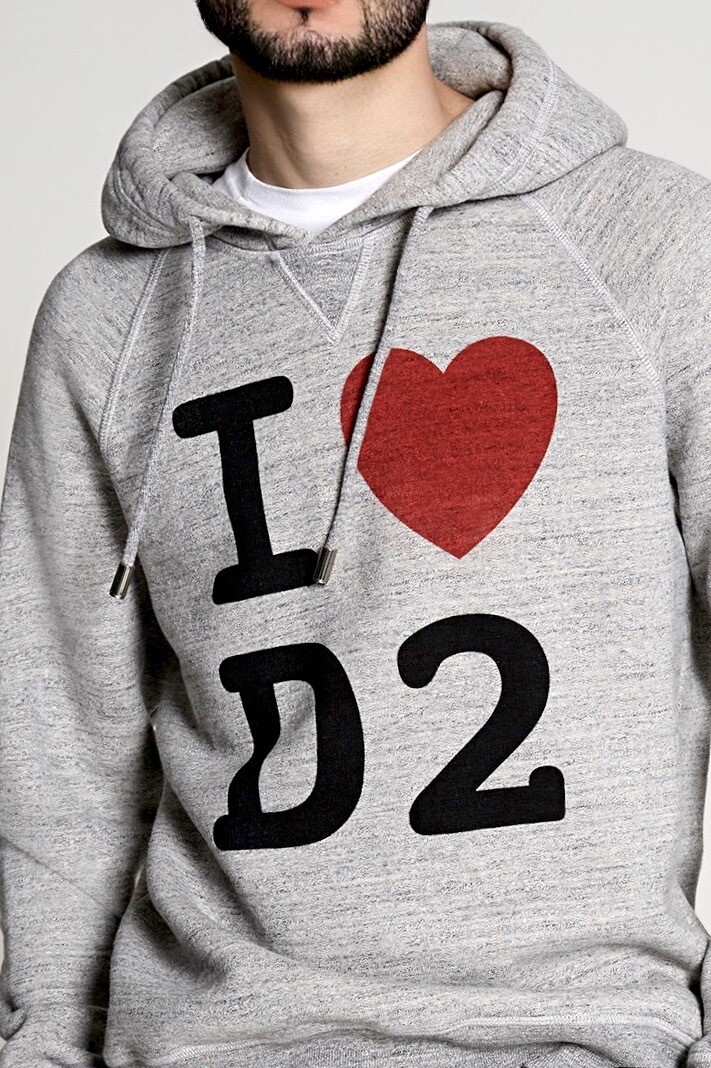 D2- Sweatshirt LOVE, grey