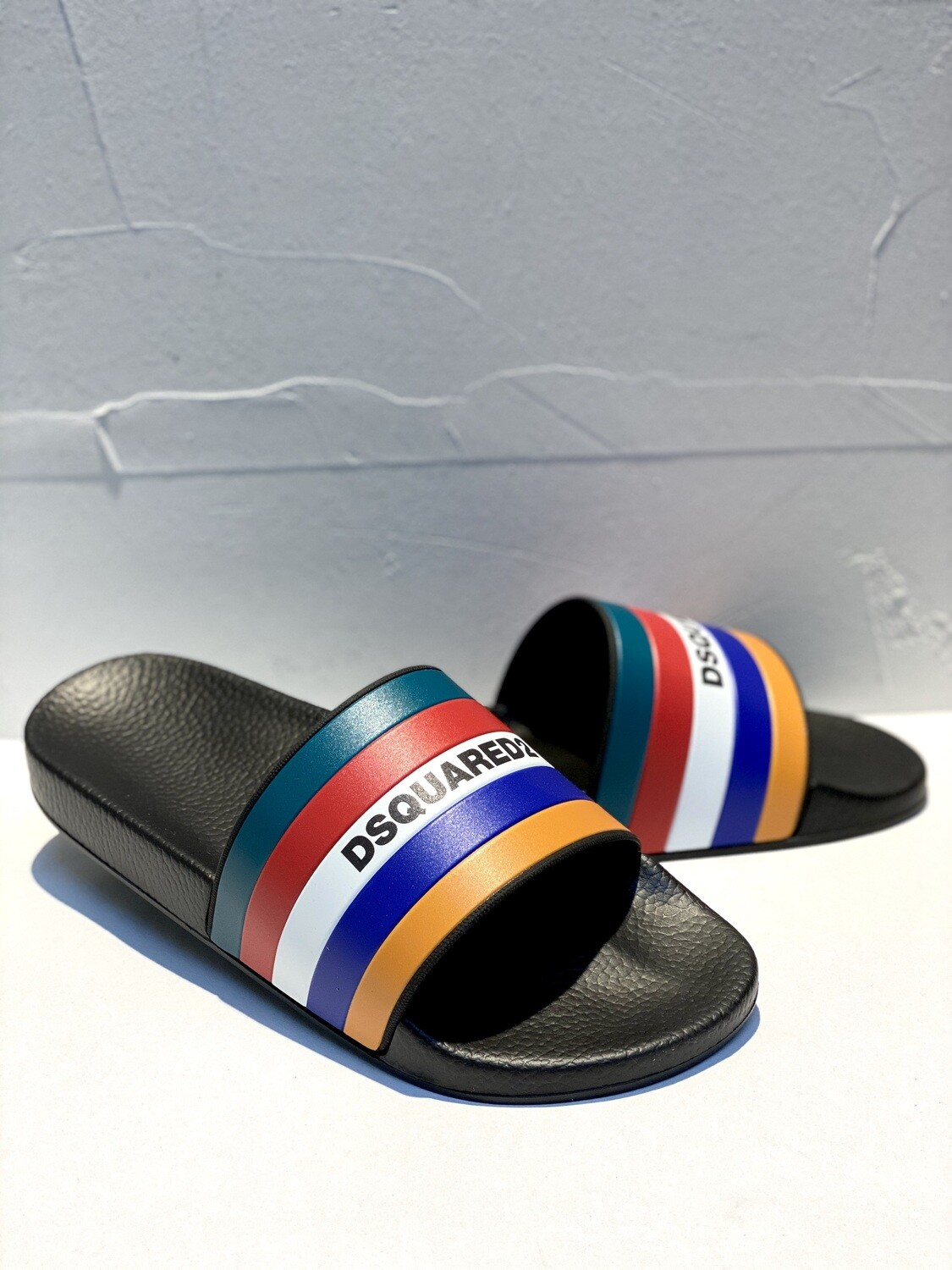 D2 - Slide MULTICOLOR, black