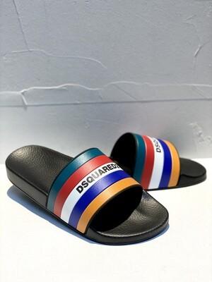 D2 - Slide MULTICOLOR, black