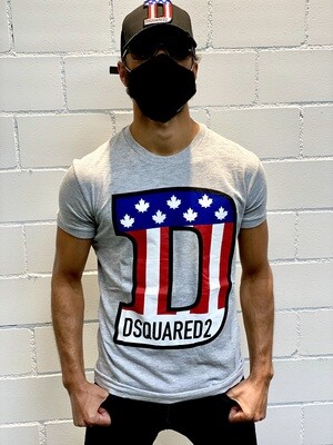 D2 - T-Shirt AMERICAN D, grey