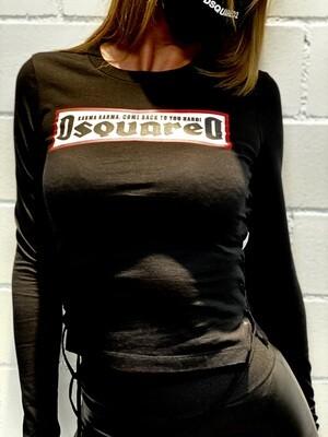 D2 - T-Shirt LS KARMA, black