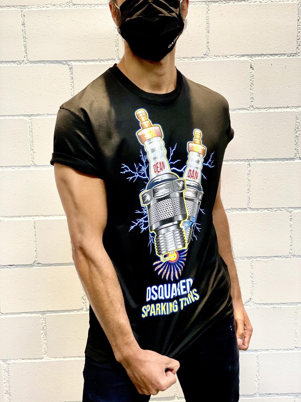 D2 - T-Shirt CANDEL DEAN DAN, black