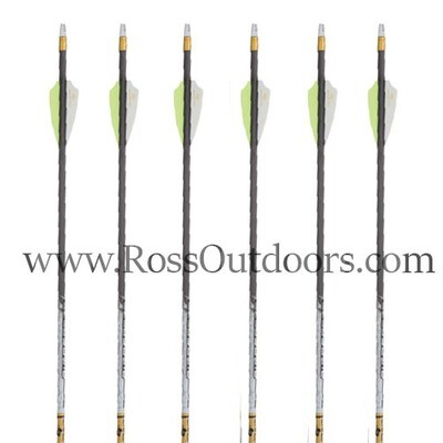 Gold Tip Kinetic Pierce Platinum 6 Pack Arrows Fletched